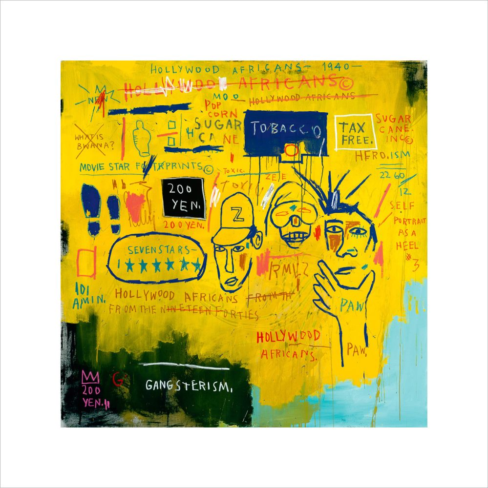 Jean-Michel Basquiat, Hollywood Africans, 1983 Acrylic and oil paintstick on canvas. Whitney Museum of American Art, New York. Gift of Douglas S. Cramer. © Estate of Jean-Michel Basquiat.